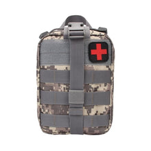 Load image into Gallery viewer, Outdoor Water First Aid Kits Travel Oxford Cloth Tactical Waist Pack Camping Climbing Bag Black Emergency Case