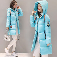 Load image into Gallery viewer, Womens Long Hooded Down Parka