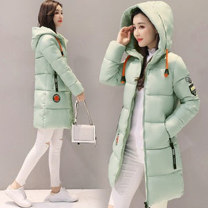Womens Long Hooded Down Parka