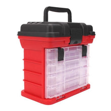Load image into Gallery viewer, 4 Layer Portable Carp Fishing Tackle Boxes Fishing Reel Line Lure Tool Storage Box 2 Colors Optional 26x15x25cm