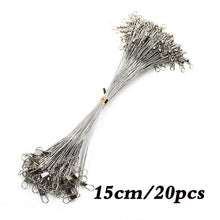 Load image into Gallery viewer, 20PCS Anti Bite Steel Fishing Wire 15CM-50CM