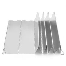 Load image into Gallery viewer, 10 Panel Folding Wind Shield for Outdoor Cooking