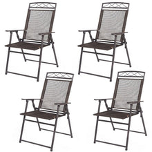 Load image into Gallery viewer, Set of 4 Outdoor Folding Sling Chairs High Quality Modern Chair Set Garden Outdoor Patio Home Furniture HW52894