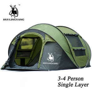 HUI LINGYANG throw tent outdoor automatic tents throwing pop up waterproof camping hiking tent waterproof large family tents