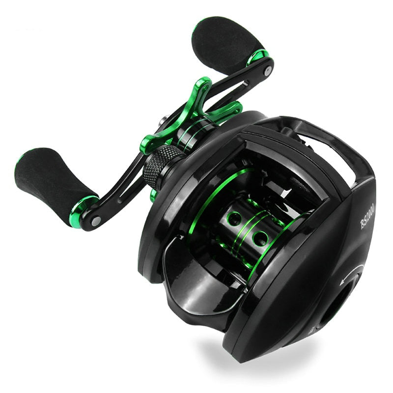 Best Baitcasting Reel 8.1:1 12+1BB Bass Fishing Reel 8KG Max Drag Left Right Hand Reel Reinforced Nylon Body White Bass YL-109