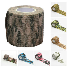 Load image into Gallery viewer, 4.5m Travel camping Camouflage Tape Camo Self Adhesive Medical Bandage Tape First Aid Kit for Sport Ankle Finger Mu Random color