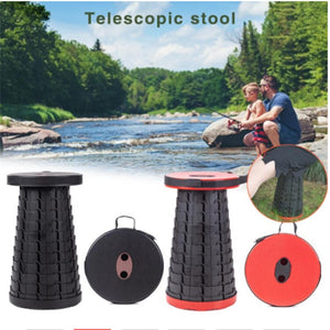 Retractable Folding Stools Sturdy Portable Lightweight Telescoping Stool Outdoor Travel Camping Fishing Garden Folding Stool