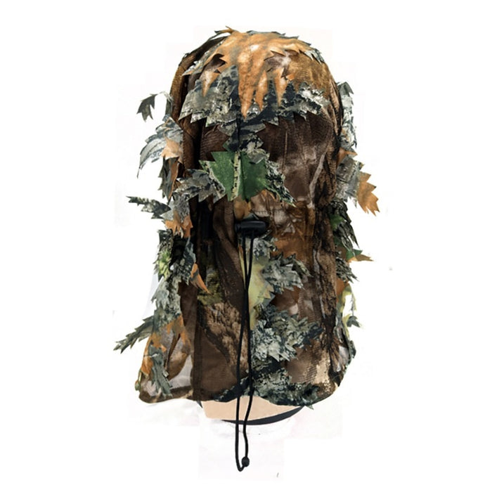 Camouflage Headgear 3D Unisex Leaf Blind Mask Outdoor Multi-Functional Camping Hunting Bionic Camouflage Headgear