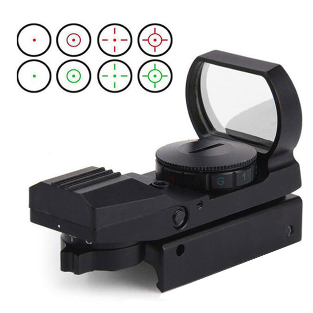 Hunting 20mm Tactical Red Dot Sight Scope Hunting Optics Riflescope Holographic  Reflex 4 Reticle Tactical Gun Accessories