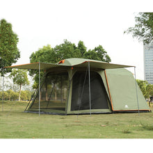 Load image into Gallery viewer, One hall one bedroom 5-8 person use double layer high quality waterproof windproof camping family tent