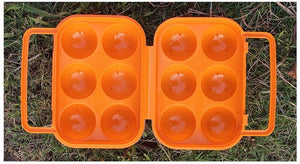 1pc Plastic 6 Grids Portable Camping Picnic Barbecue Outdoor Egg Box Convenient Kitchen Egg Storage Boxes