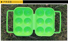 Load image into Gallery viewer, 1pc Plastic 6 Grids Portable Camping Picnic Barbecue Outdoor Egg Box Convenient Kitchen Egg Storage Boxes