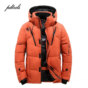 Mens High Quality  Hooded Parkas with Multi-Pockets