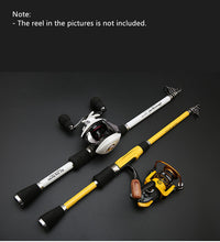 Load image into Gallery viewer, TIASCFR Carbon Fiber Telescopic Fishing Rod Bait Cast or Spinning. Reel sold seperately.