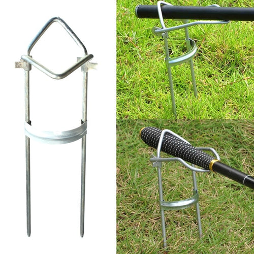 Outdoor Adjustable Protable Beach Fishing Rod Base Mount Rests Stand Holder Bracket Accessory
