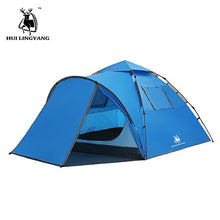 Load image into Gallery viewer, Tourist tent large space double 3-4 people tent hydraulic automatic waterproof 4 season outdoor family beach leisure tent