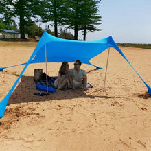 Load image into Gallery viewer, Large Tent Outdoor Family Beach Sunshade Lightweight Tent UPF50+UV Portable Canopy Parks Outdoor Waterproof Camping Hiking Tents