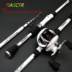 TIASCFR Carbon Fiber Telescopic Fishing Rod Bait Cast or Spinning. Reel sold seperately.