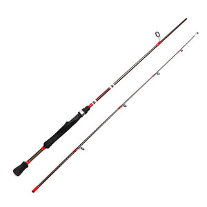 GLS 1.8mCarbon 2 Piece Medium Action Casting/ Spinning Fishing Rod