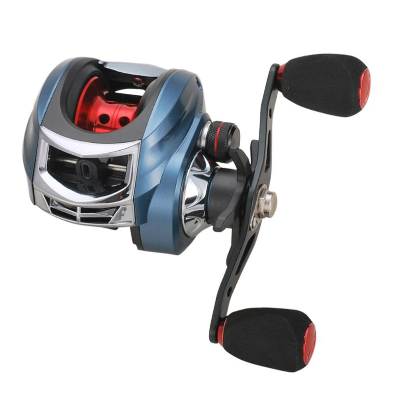 Right Hand Left Hand BaitCasting Reel 17+1 Ball Bearings 7.2:1 Water Drop Reel Magnetic Brake Spinning Fishing Wheel