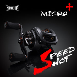Kingdom SPEED SHOT MICRO 2019 6.5:1 High Speed Ultralight Baitcasting Reel 12+1 Ball Beari