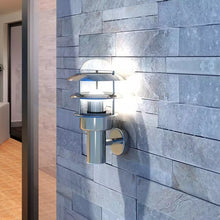 Load image into Gallery viewer, Patio Wall Light Lamp rust resistant waterproof Stainless Steel wall light for porches, patio areas, gardens