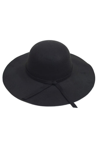 Black Felt Floppy Hat
