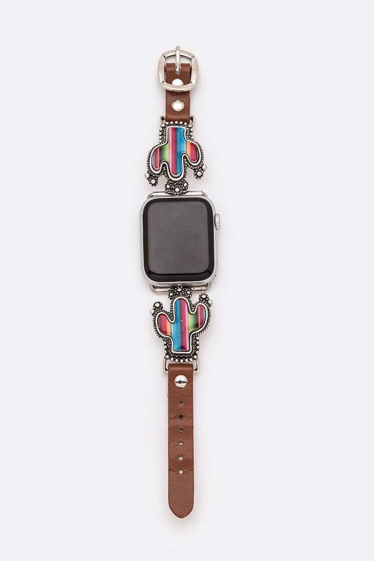 Serape Cactus Watch Band