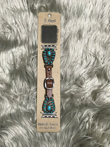 Turquoise Flower Watch Band