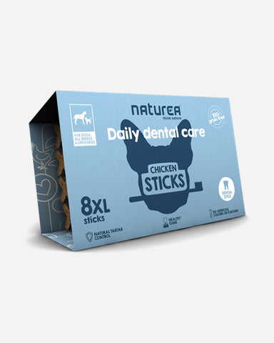 Daily Dental Care Chicken Sticks - 8 stk XL