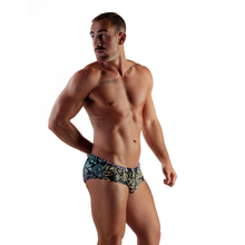 Load image into Gallery viewer, Tribal Swim Brief RAINBBOW