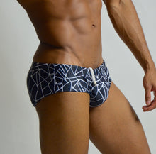 Load image into Gallery viewer, Tribal Swim Brief OBSIDIAN