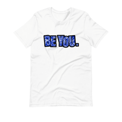 Be You. Bandana Print Blue Short-Sleeve Unisex T-Shirt