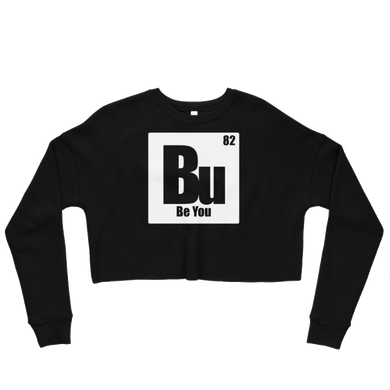 Be You. Bu White Crop Sweatshirt