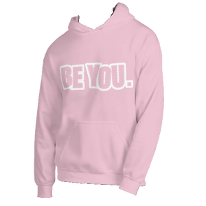 Be You. White Unisex Hoodie