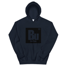 Load image into Gallery viewer, Be You. Bu Black Unisex Hoodie