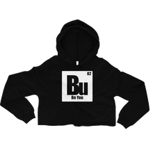 Load image into Gallery viewer, Be You. Bu White Crop Hoodie