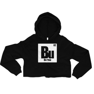 Be You. Bu White Crop Hoodie