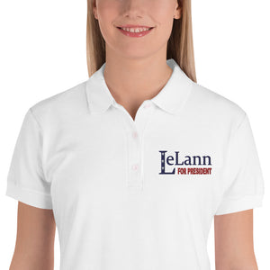 LeLann For President Embroidered Women's Polo Shirt