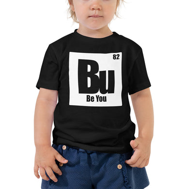 Be You. Bu White Toddler Short Sleeve Tee