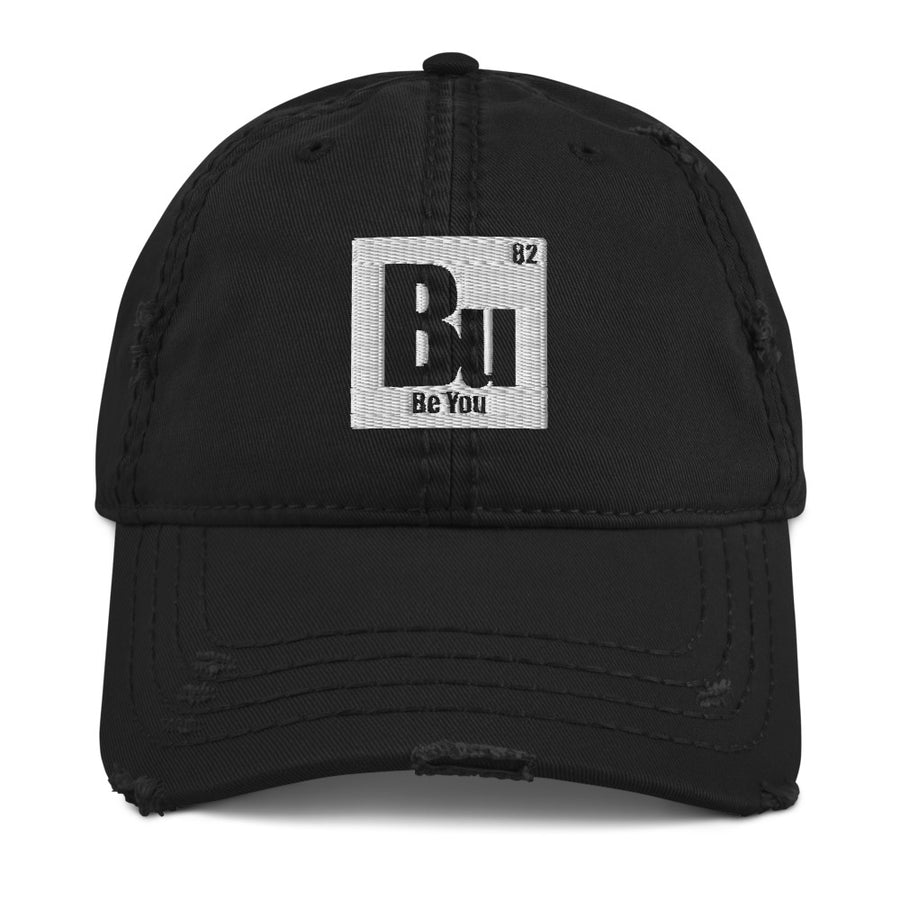 Be You. Bu Distressed Dad Hat