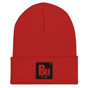 Be You. Bu Black Cuffed Beanie