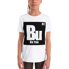 Load image into Gallery viewer, Be You. Bu Black Youth Short Sleeve T-Shirt