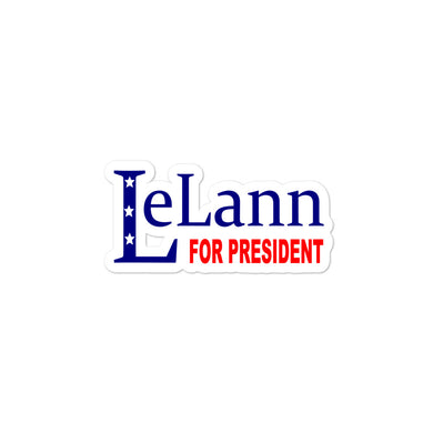 LeLann For President Bubble-free stickers