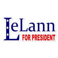 Load image into Gallery viewer, LeLann For President Bubble-free stickers