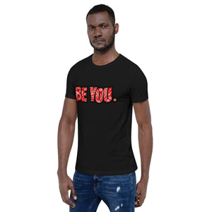 Be You. Bandana Print Red Short-Sleeve Unisex T-Shirt