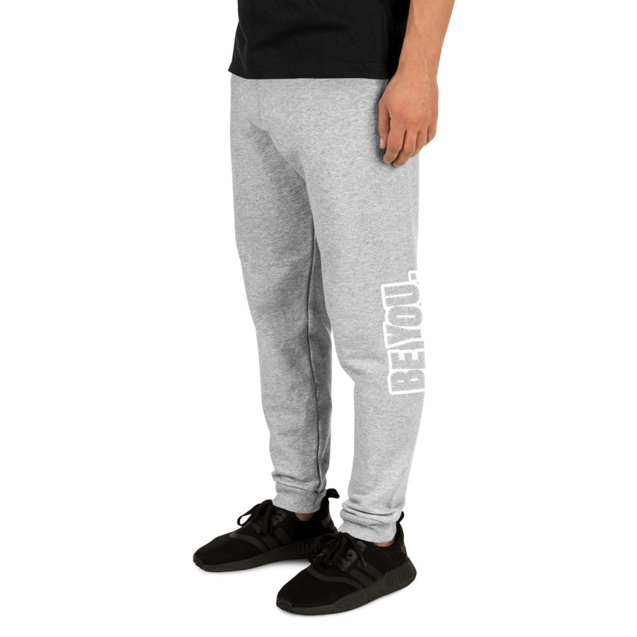 Be You. White Unisex Joggers