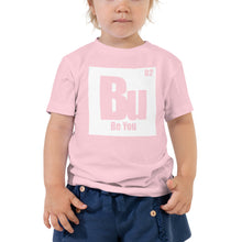 Load image into Gallery viewer, Be You. Bu White Toddler Short Sleeve Tee