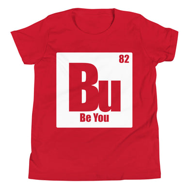 Be You. Bu White Youth Short Sleeve T-Shirt