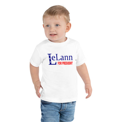 LeLann For President Toddler Tee
